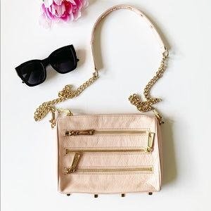 💕💖REBECCA MINKOFF 3 Zip Crossbody Bag Pink
